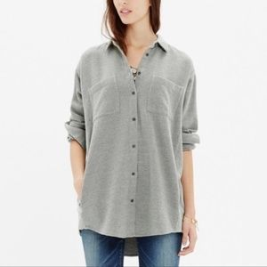 Madewell Sunday Flannel Button Down Shirt Pockets